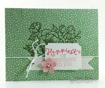 Birthday Blooms Stamp Set  Birthday Bouquet Designer Series Paper www.stampcrazywithalison.ca