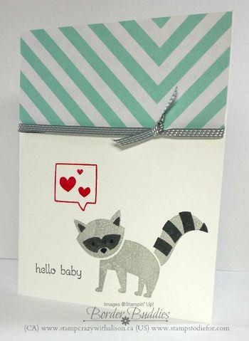 Foxy Friends Raccoon Baby www.stampcrazywithalison.ca
