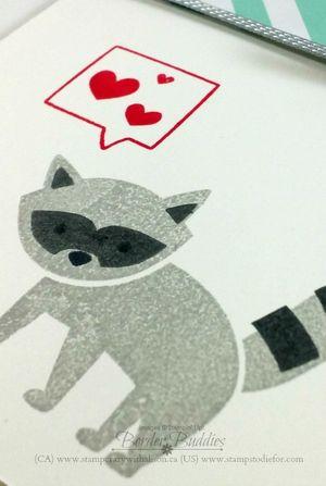 Foxy Friends raccoon www.stampcrazywithalison.ca