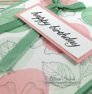 Birthday blossoms spotlight 3 #stampinup www.stampcrazywithalison.ca