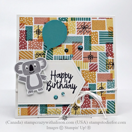 Just in CASE card created using the Birthday Bonanza Suite by Stampin' Up! 2-27 front