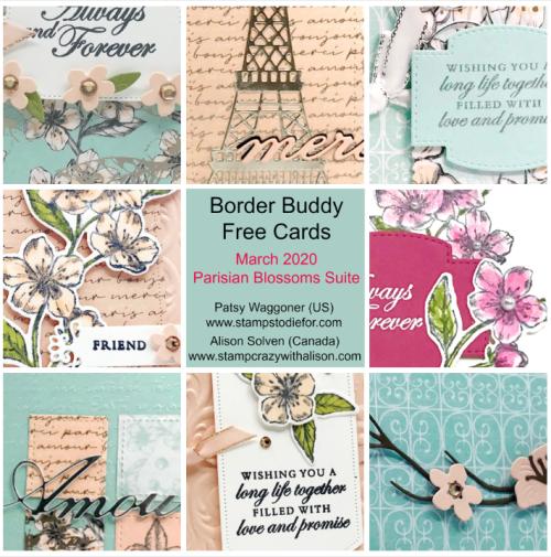 BB March 2020 Parisian Blossoms Bundle Collage