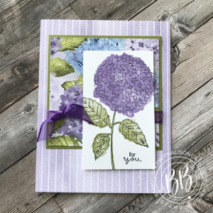 Hydrangea Haven Stamp Set by Stampin Up Sunday Sketches car template