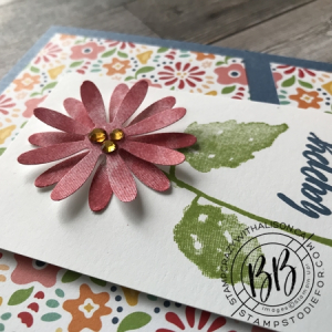 Sunday Sketch Hydrangea Haven and Pattern Party Paper by Stampin' Up! 3