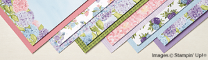 Hydrangea hill designer series paper by stampin up