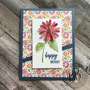 Sunday Sketch Hydrangea Haven and Pattern Party Paper by Stampin' Up!