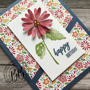 Sunday Sketch Hydrangea Haven and Pattern Party Paper by Stampin' Up! 2