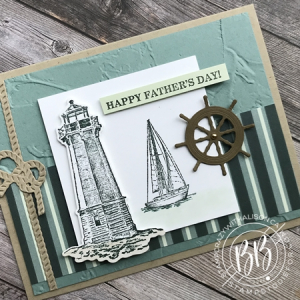 Sunday Sketch Card using the Sailing Home stamp set Pansy Designer Paper and Smooth Sailing Dies and Painted Texture Embossing Folder by Stampin' Up! (2)