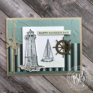 Sunday Sketch Card using the Sailing Home stamp set Pansy Designer Paper and Smooth Sailing Dies and Painted Texture Embossing Folder by Stampin' Up! x