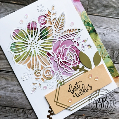 Expressions in Ink Suite by Stampin' Up!  card features Artistic Dies and the Designer Series Paper 3