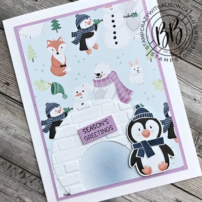 Border Buddy PDF Tutorial featuring the Penguin Place stamp set by Stampin' Up! (5)