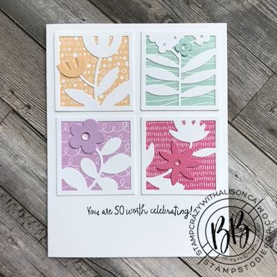 All Squared Away Stamp Set and Floral Square Dies