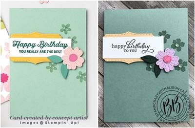 Just in CASE (copy and selectively edit) series card using the Lovely You & Best Year stamp set and Pierced Blooms Dies by Stampin' Up!