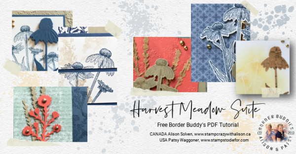 A sneak peek of the cards included in the FREE Harvest Meadow Suite PDF. Earn more rewards when you use my Host Code