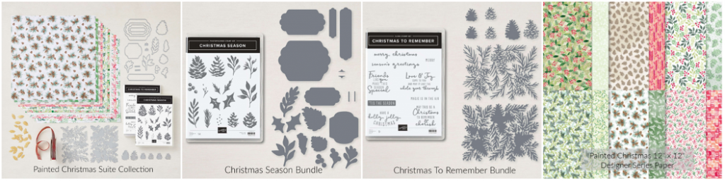 The Painted Christmas Suite Collection has everything you need to create beautiful Christmas cards and gifts!